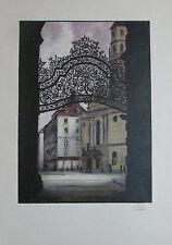 Igo Pötsch DAS GROSSE MICHAELERHAUS IN WIEN Originaldruck aus 1932 Kunstblatt