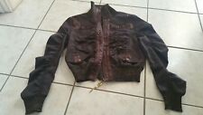 New Women's DieseL Jeans Bomber Jacket Size M Brown gold