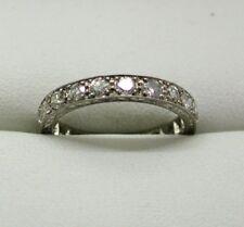 1920's Vintage Beautiful Platinum 1.40 Carat Diamond Full Eternity Ring Size M