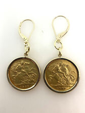 More details for 1907 half sovereign earrings sovereign earrings edward vii half sovereign 22ct