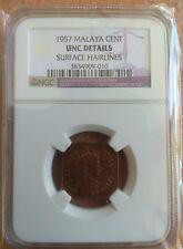 Malaya & British Borneo 1957 One Cent