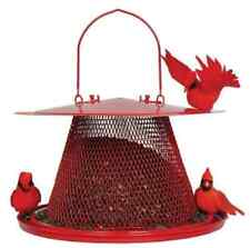 Red Cardinal Bird Seed Hanging Tree Porch Patio Deck Feeder