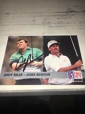 Andy Bean   Signed 1992 Golf Card