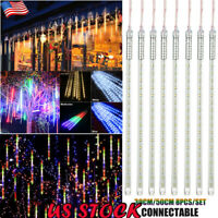 30/50CM LED Meteor Shower Rain Lights 8 Tube Waterproof Xmas Falling String Lamp