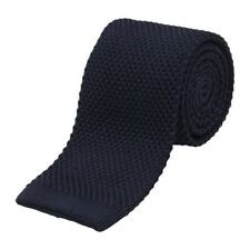 "Benchmark Ties 100% Silk Knit Tie in Navy Blue (2.5"" / 6.5cm Wide)"