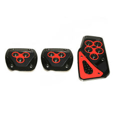 3x Red Foot Pedals Pad Covers For Ford Focus Fiesta Fusion Mondeo Kuga C S B Max