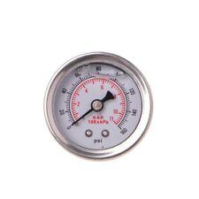 Fuel Pressure Regulator Gauge 0-160 Psi / Bar Liquid Fill Chrome Fuel Oil Gauge
