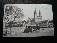 FRANCE - carte (reproduction) (chartres , place chatelet et cathedrale) (cy68)