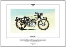 NORTON 500T - Motor Cycle Fine Art Print - Norton's Post-War trials bike picture