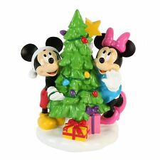 Mickey & Minnie Mouse Around The Tree Christmas Ornament