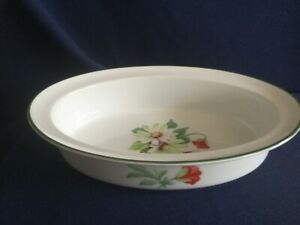 """Royal Worcester Poppies 9 5/8"""" oval vegetable serving dish - very minor rim wear"""