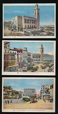 North Africa ALGERIA Philippeville x3 c1920/30s PPCs