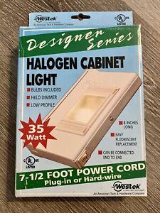 "Westek 35W Halogen Under Cabinet Light 8"" With Bulbs Wall Plug In Kit UC41HC"