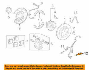 89545-30070 Toyota Sensor, speed, rear rh 8954530070, New Genuine OEM Part