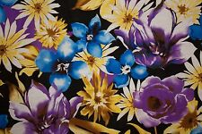 Multicolored Floral Print #3 100 Rayon Challis Sewing Shirt Apparel Fabric BTY