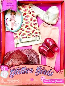 """1 Glitter Girls Head To Toe Glimmer Deluxe Outfit Ensemble Fits Most 14"""" Dolls"""