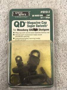 NOS UNCLE MIKE'S QD MAGAZINE CAP SUPER SWIVELS for MOSSBERG 500 SHOTGUNS #1810-2