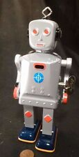 Vintage Schylling SPARKLING MIKE Wind-Up Tin ROBOT Toy Space WALKING NEW  in box