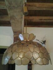 ANCIENNE SUSPENSION LAMPE DECOR FLEURS /LUMINAIRE/LUSTRE/