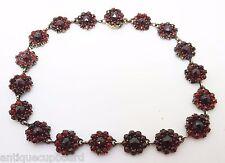 Genuine Natural Bohemian Garnet Bracelet with Rose Cut Garnets (#J3168)
