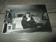 Johnny Hallyday&Limited access-Carte postale,N&B, grand format Johnny 1970