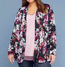 LANE BRYANT Cardigan Cacique Overpiece Printed Sweater PLUS SIZE 18/20 2X NEW