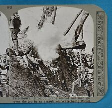 WW1 Stereoview Zero Hour Over The Top Wytschaete Wood Ypres Realistic Travel