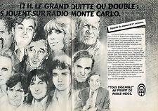 PUBLICITE ADVERTISING 114  1980  RMC radio ( 2p) LE GRAND QUITTE ou DOUBLE