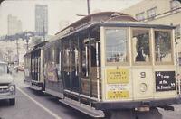 Vintage Photo Slide 1977 San Francisco Trolley Powell Market Street View