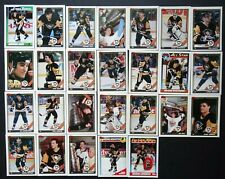 1991-92 Topps Pittsburgh Penguins Team Set of 26 Hockey Cards