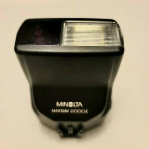 Vintage Minolta Camera Maxxum 2000i Shoe Mount Electronic Flash Tested Working