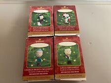 Hallmark Keepsake Ornaments A Snoopy Christmas Charlie Brown Linus, Lucy, Snoopy