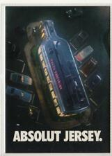 ABSOLUT JERSEY: Absolut Vodka advertising postcard (C34562)