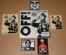 """Shepard Fairey Off Band Learn To Obey 7"""" Single Vinyl Record Stickers Rsd Art"""