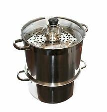 Uzbek 5 Level 20 Qt 18/10 Stainless Steel Steamer Warmer Cooker Mantovarka Manti