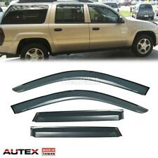 Smoke Stick-on Rain Guard Window Visor Deflector for Chevrolet Trailblazer 02-09