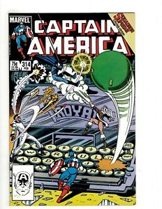 9 Captain America Marvel Comic Books # 314 315 316 317 318 319 320 321 322 UD3