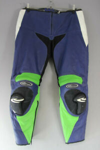 CORNER LEATHER BIKER TROUSERS + CE ARMOUR/KNEE SLIDERS: WAIST 38/INSIDE LEG 30IN