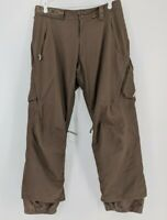 Burton Snow Pants Snowboard Ski The White Collection Men's Sz Large Brown Cargo