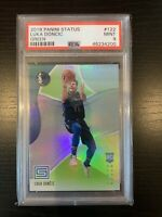 Luka Doncic 2018-19 Panini Status GREEN SP ROOKIE Card RC #122 PSA 9 MINT Dallas