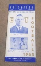 EAST TEXAS STATE UNIVERSITY - COLLEGE FOOTBALL MEDIA GUIDE - 1965