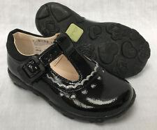 1ef23342e4e1 Girls Clarks Velcro T Bar Shoes Ella Ruby Black Patent UK 5.5 F