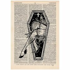 Coffin Legs Dictionary Word Art Print Vintage, Quirky, Alternative