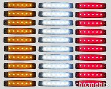 30 pcs 24V 6 LED SMD WHITE YELLOW RED SIDE MARKER LIGHT POSITION TRUCK TRAILER