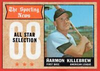 1968 Topps #361 Harmon Killebrew EX/EX+ WRINKLE HOF All-Star Minnesota Twins