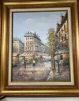 Henry Rogers Original Oil painting on canvas, Paris Street Scene signed Framed