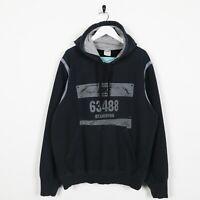 Vintage NIKE Big Graphic Logo Hoodie Sweatshirt Black | Large L