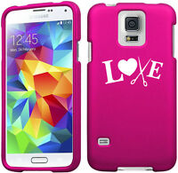 For Samsung Galaxy S4 S5 S6 Mini Active Rubber Hard Case Cover Love Hair Cutting