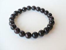 Bracelet élastique de perles de Grenat 8 mm  - rouge foncé pierre fine gemme