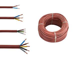 Silikonkabel SIHF 2 3 4 5 x 0,75 1,00 1,5 mm² Sauna Leitung wärmebeständig 14621
